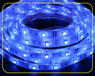 RGB LED Strip Rolle 5 m 150 SMDs 24 V 36 W IP67 – Bild 1