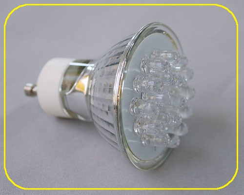 1 1 watt led spot gu10 18 leds rgb 2734 for Led deckenaufbauleuchten